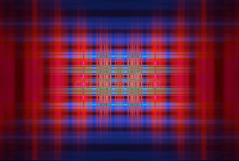 Roter und blauer unscharfer Streifenhintergrund stockbild