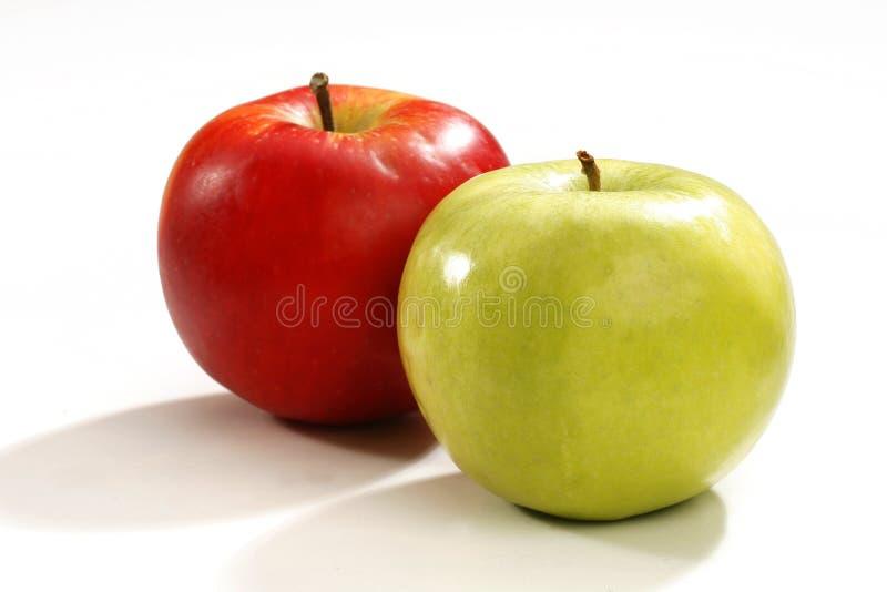 Roter und grüner Apple lizenzfreies stockfoto