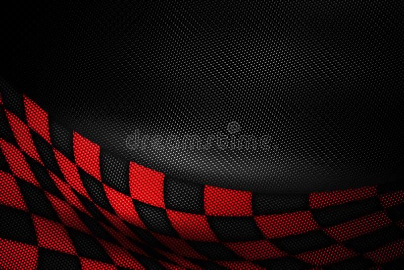 Roter und schwarzer Kohlenstofffaserhintergrund lizenzfreie stockfotos