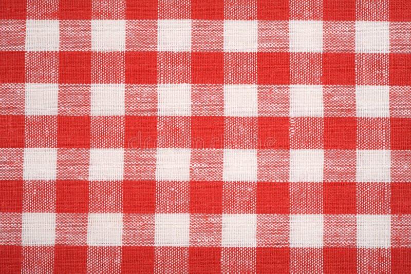 Roter und weißer Gewebehintergrund stockfoto