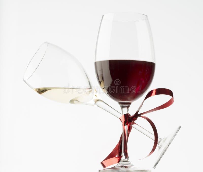 Roter und weißer Wein lizenzfreies stockfoto