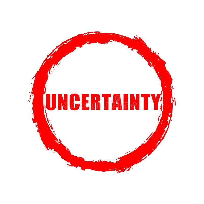 Roter Ungewissheitsknopf, Zeichen, Ikone, Logo lizenzfreie abbildung