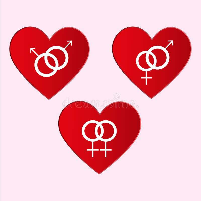 Roter Valentine Symbols Isolated auf weißem Hintergrund stockfotos