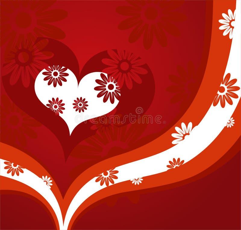 Roter Valentinsgrußhintergrund vektor abbildung