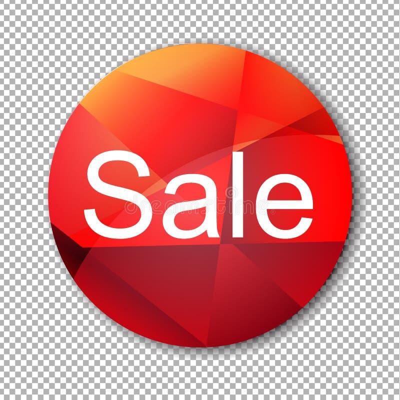 Roter Verkaufs-Aufkleber stock abbildung