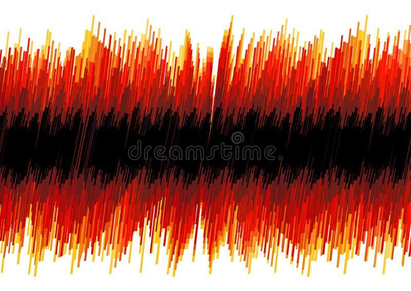 Roter verzerrter Oszillographauszug lizenzfreie abbildung