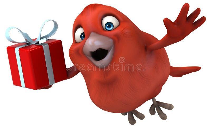 Roter Vogel lizenzfreie abbildung