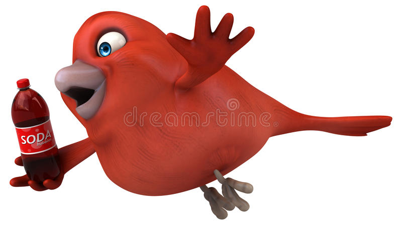 Roter Vogel vektor abbildung
