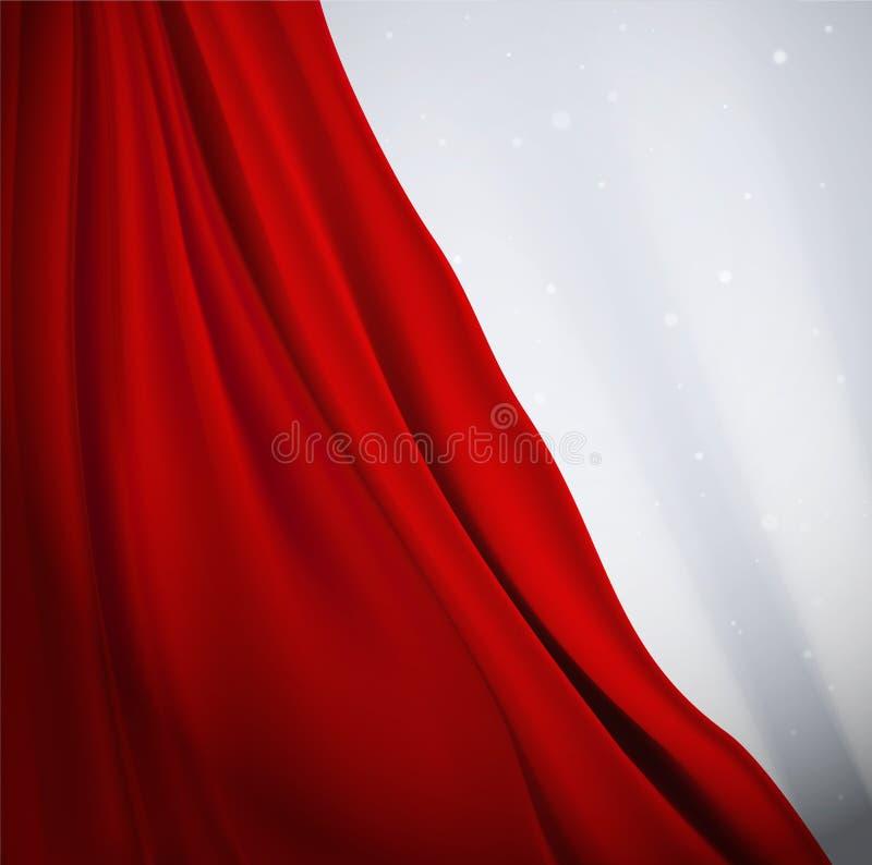 Roter Vorhang lizenzfreie abbildung