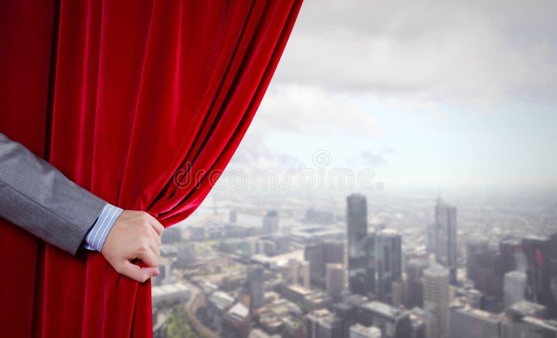 Roter Vorhang stockfotografie