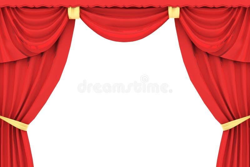 Roter Vorhang in 3D vektor abbildung