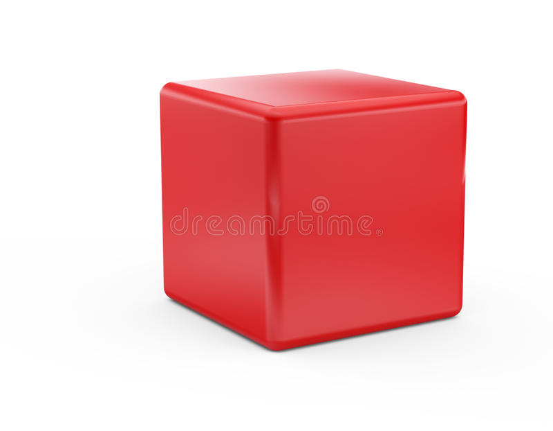 Roter Würfel stock abbildung