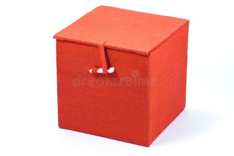 Roter Würfelkasten lizenzfreies stockfoto