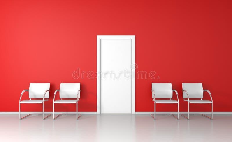 Roter Warteraum stock abbildung