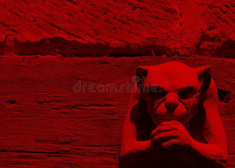 Roter Wasserspeier lizenzfreies stockfoto