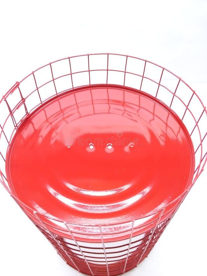 Roter weißer Hintergrund des Lächelns lizenzfreie stockfotografie