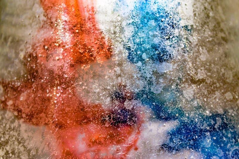 Roter weißer und blauer Auszug stockbild