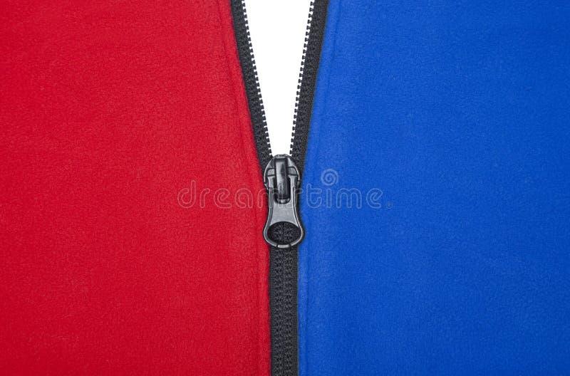 Roter weißer und blauer Reißverschluss lizenzfreies stockbild