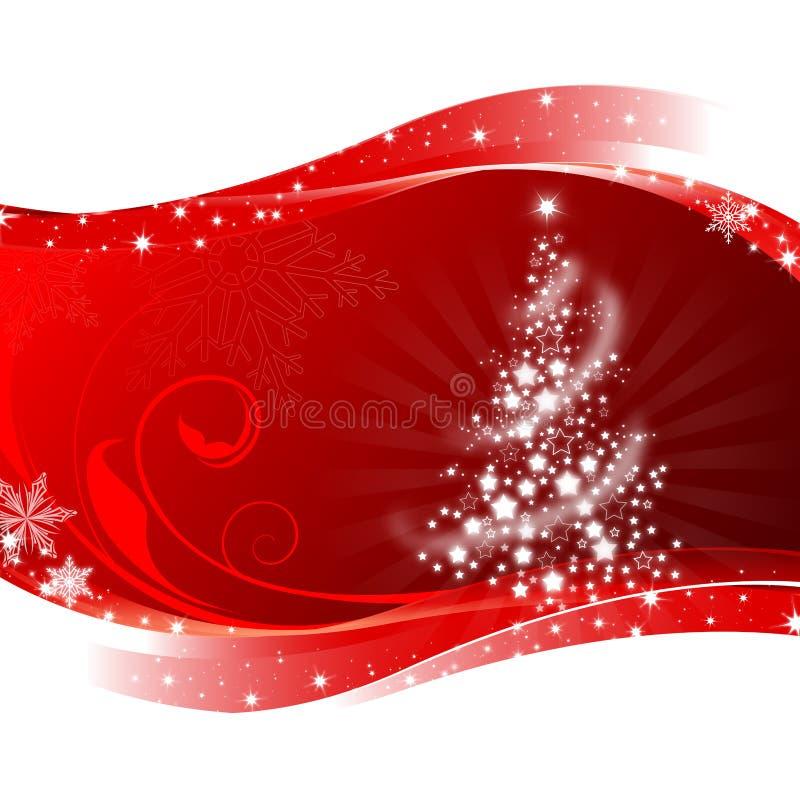 Roter Weihnachtsbaum stock abbildung