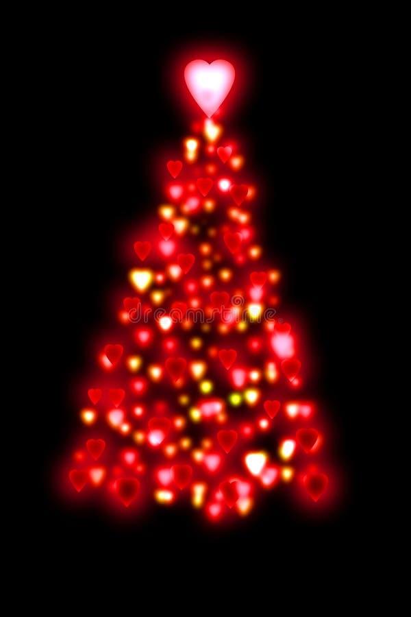Roter Weihnachtsbaum lizenzfreie abbildung