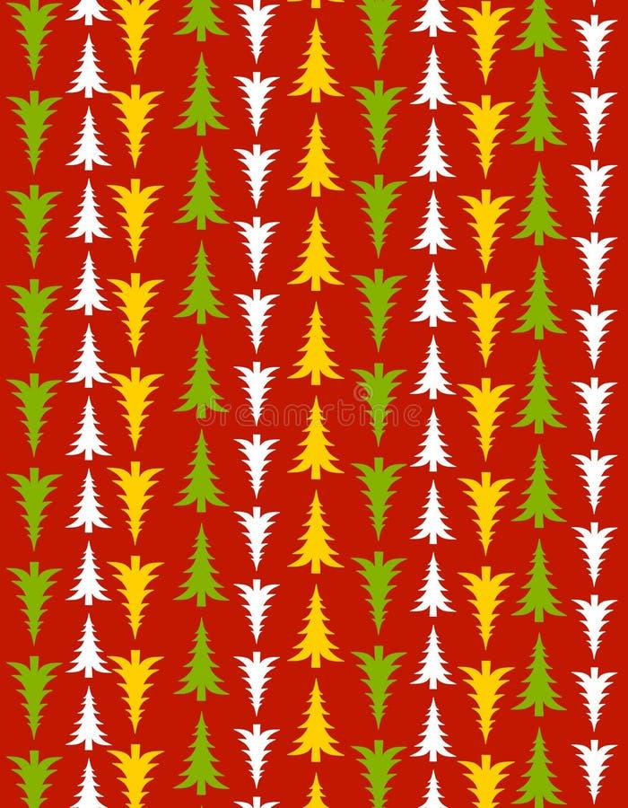 Roter Weihnachtsbaum-Hintergrund vektor abbildung
