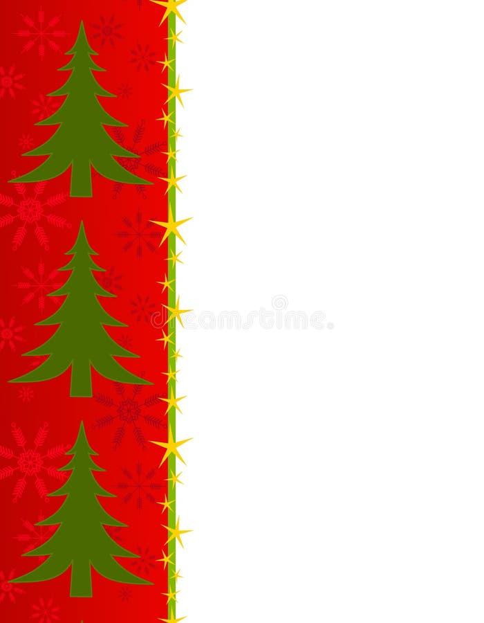 Roter Weihnachtsbaum-Rand lizenzfreie abbildung