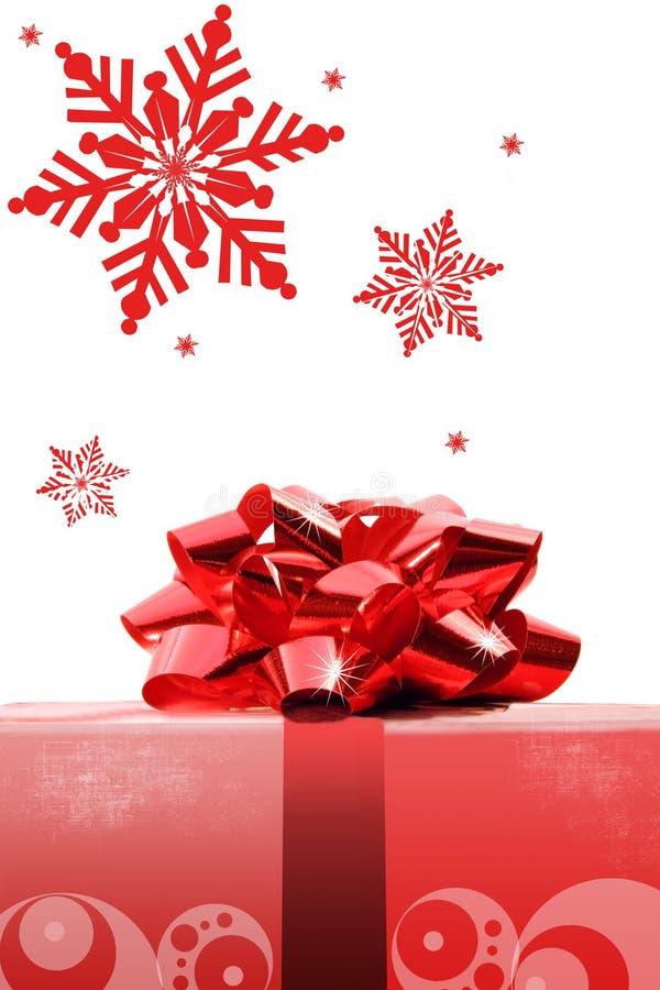 Roter Weihnachtsbogen lizenzfreie stockfotos