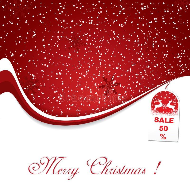 Roter Weihnachtsdekorationhintergrund stock abbildung