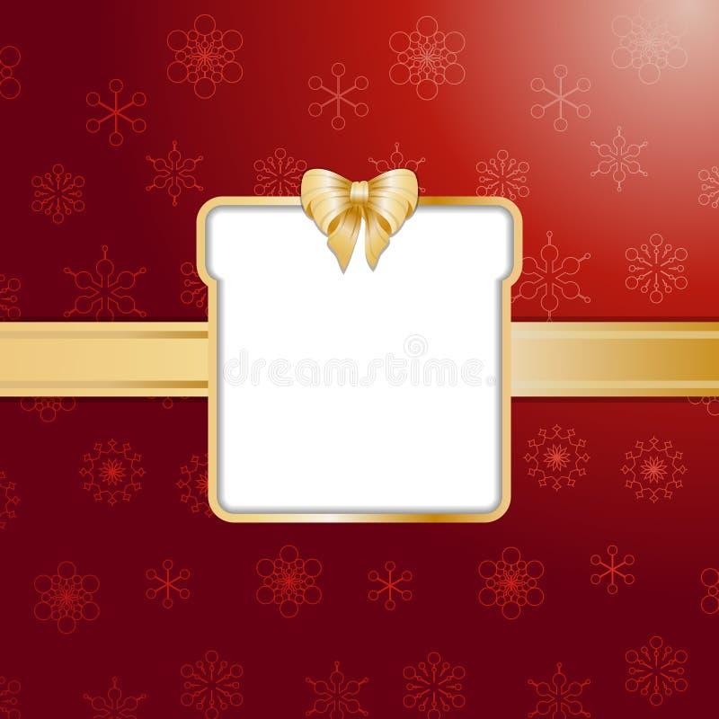 Roter Weihnachtsgeschenkhintergrund und -rand vektor abbildung