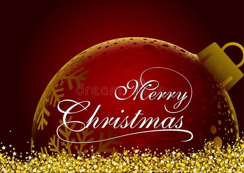 Roter Weihnachtsgruß stock abbildung