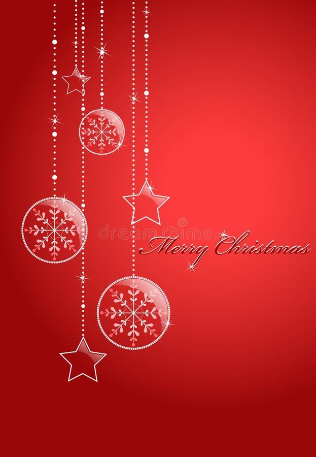 Roter Weihnachtshintergrund vektor abbildung