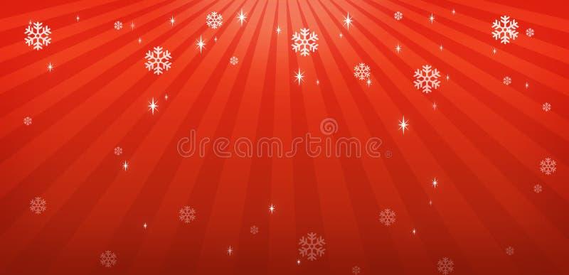 Roter Weihnachtshintergrund stock abbildung
