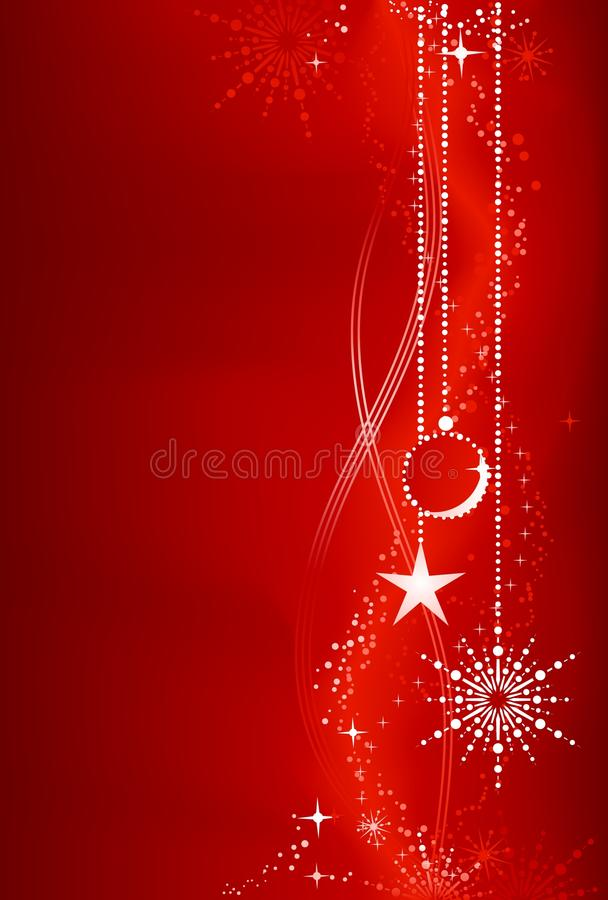 Roter Weihnachtshintergrund mit Verzierungen lizenzfreie abbildung