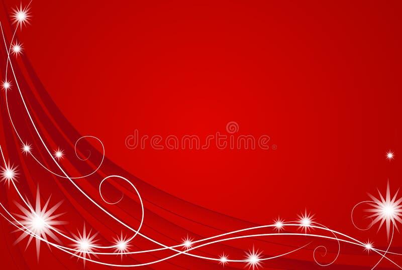 Roter Weihnachtsleuchte-Hintergrund stock abbildung