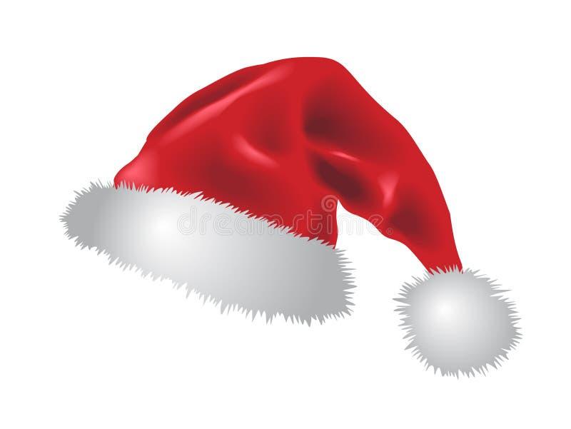 Roter Weihnachtsmann-Hut stock abbildung