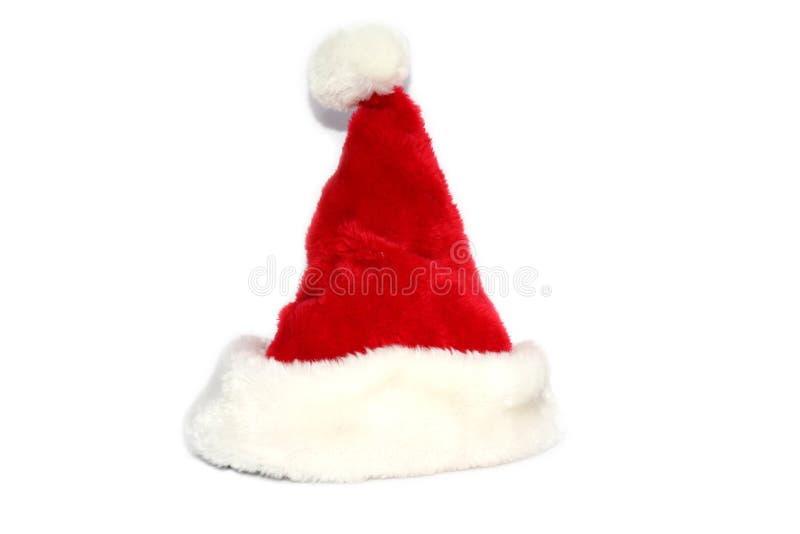 Roter Weihnachtsweihnachtsmann-Hut lizenzfreies stockfoto
