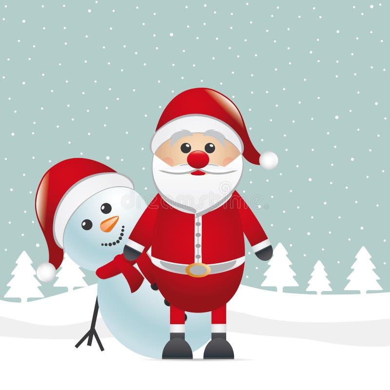 Roter Wekzeugspritzenblick Weihnachtsmann des Rens lizenzfreie abbildung