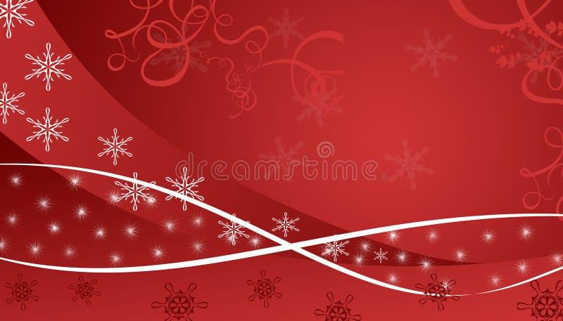Roter Winterhintergrund stock abbildung