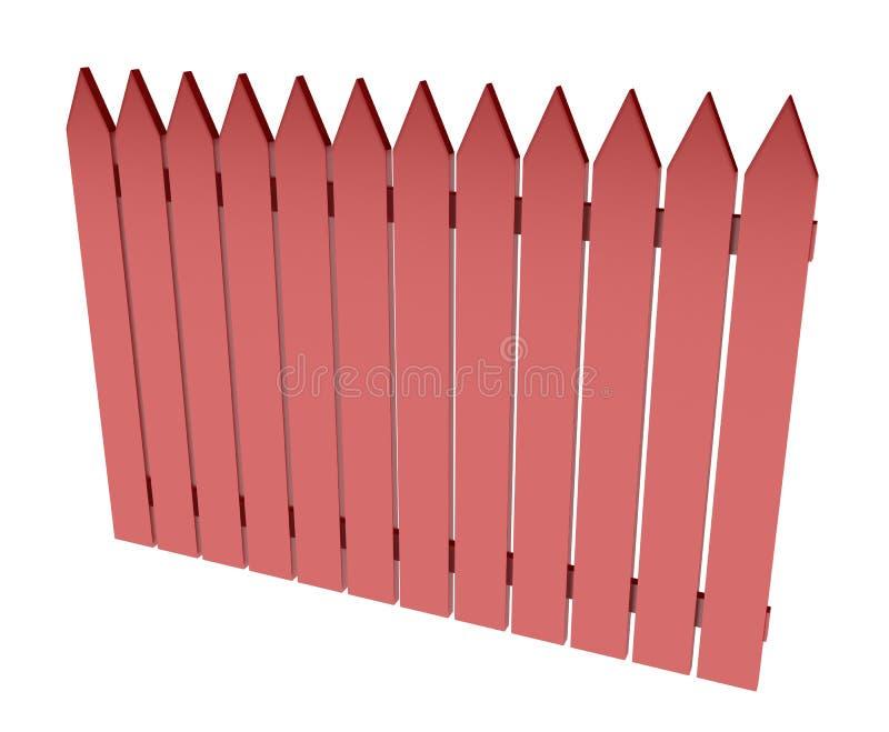 Roter Zaun vektor abbildung