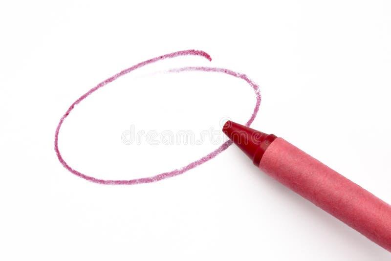 Roter Zeichenstift bilden einen Kreis lizenzfreies stockbild