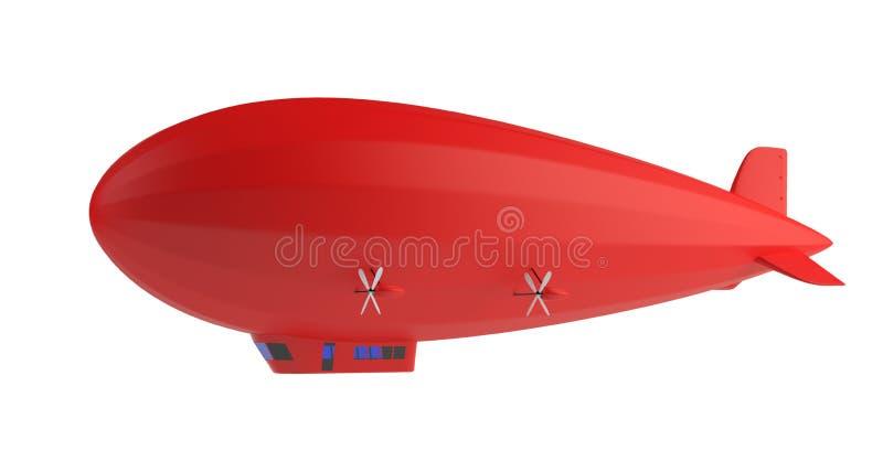 Roter Zeppelin lizenzfreie abbildung