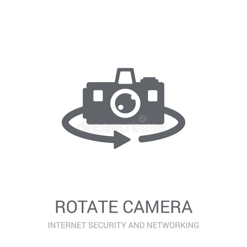 rotera kamerasymbolen  royaltyfri illustrationer