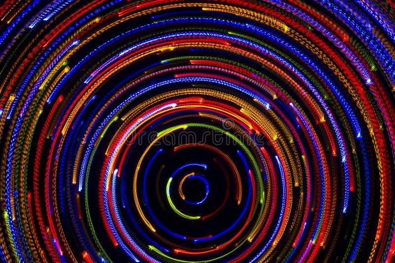 Rotera neonljus royaltyfri bild