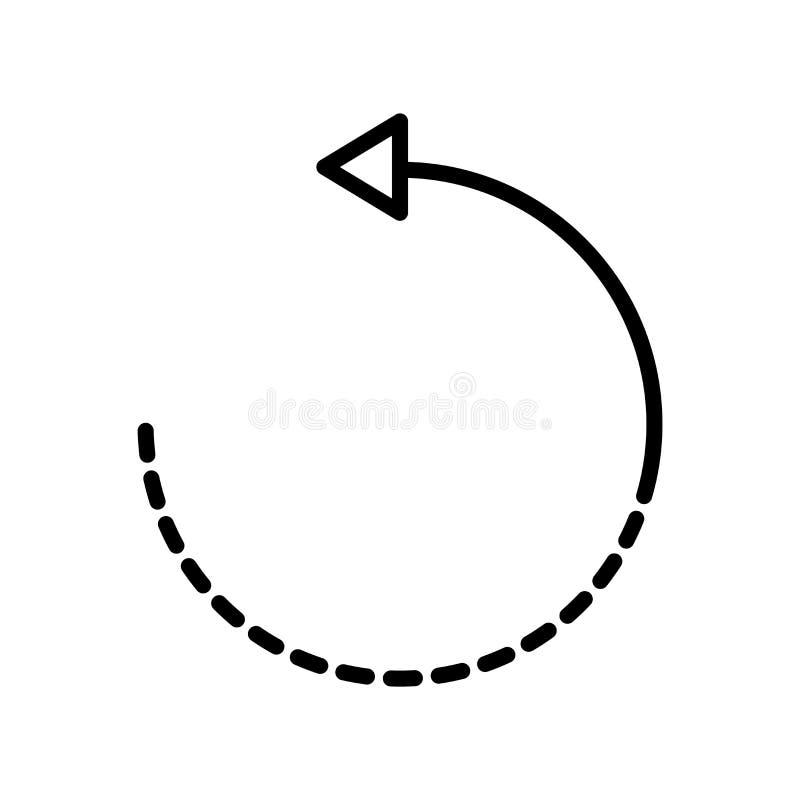 Rotera symbolsvektorn som isoleras på vit bakgrund, rotera tecken, l royaltyfri illustrationer