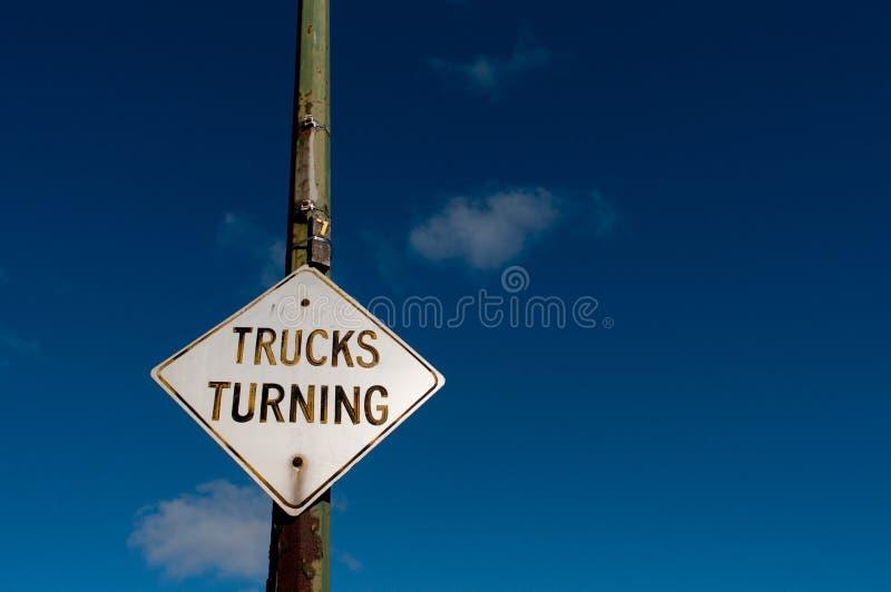 Roterande gatatecken för lastbil arkivfoton