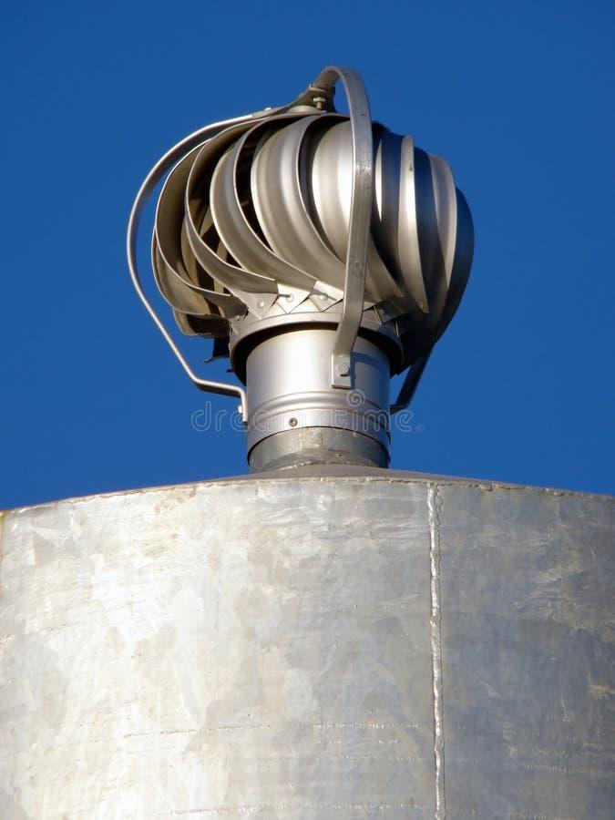 roterande lufthål för metall arkivfoton