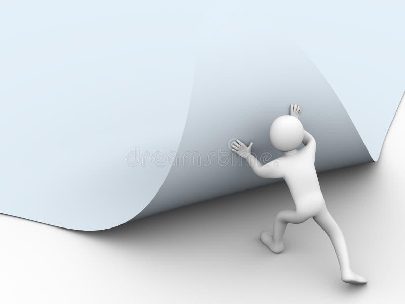 roterande sida för person 3d stock illustrationer