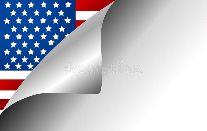 Roterande sida för USA landsflagga stock illustrationer