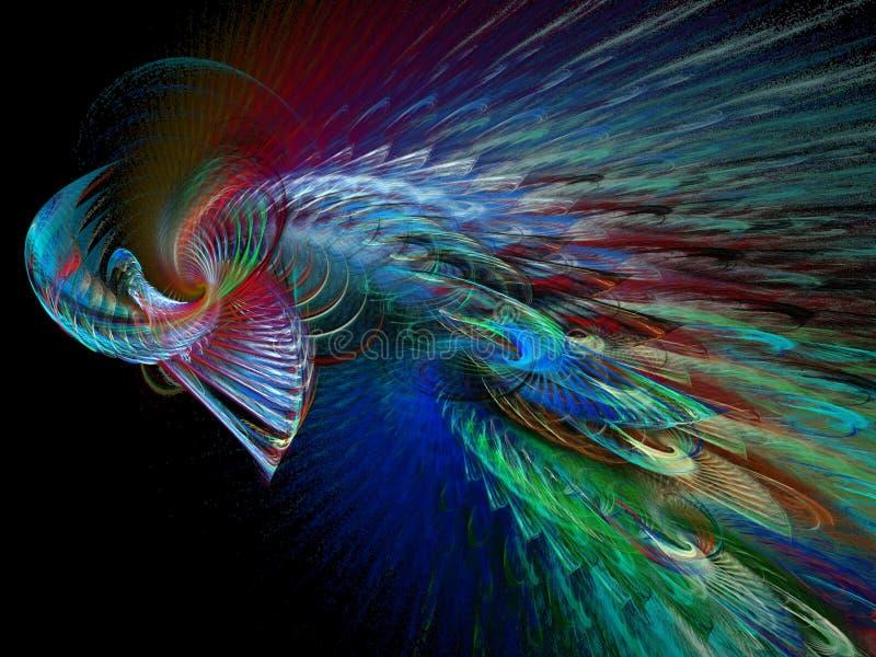 roterande swirls för fathery vektor illustrationer