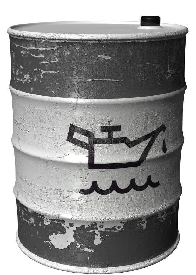 roterande symbol för trumma olja vektor illustrationer